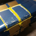 ford mustang gt350 trunk stripes during